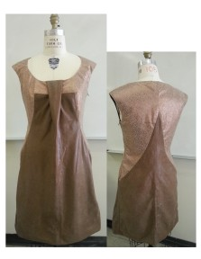 Sewn for Advanced Construction, I chose suede animal prints to compliment this dress.